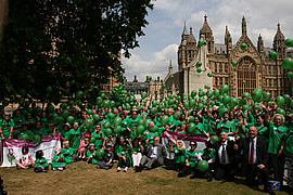 Hundreds of HD family members attended a rally in London in June 2010, to highlight the needs of HD patients and the likely increased prevalence figures