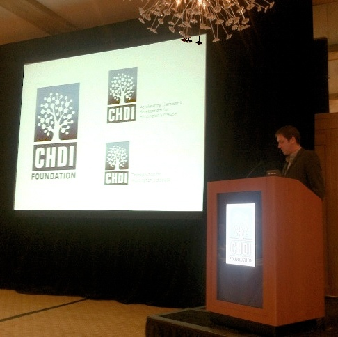 Simon Noble unveils CHDI's new logo