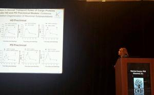 Patrizia Fanara shared data on how mutant huntingtin alters the dynamic behaviour of brain proteins in mice