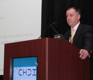 Doug Macdonald, CHDI's Director of drug discovery, gave an update on progress in huntingtin silencing