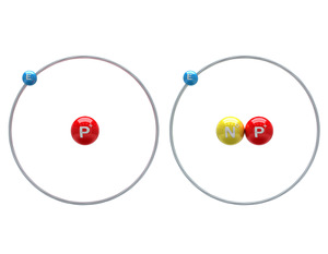 SD-809 contains deuterium (right) instead of normal hydrogen (left). Deuterium is heavier because it has an extra neutron, shown here in yellow. The drug is removed from the body more slowly as a result.