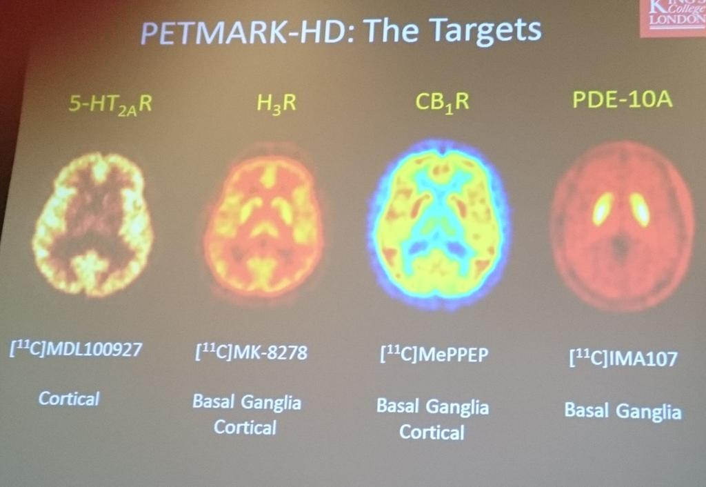 Marios Politis announced his PETMARK-HD study, which will compare multiple molecular scanning methods for the first time in HD.