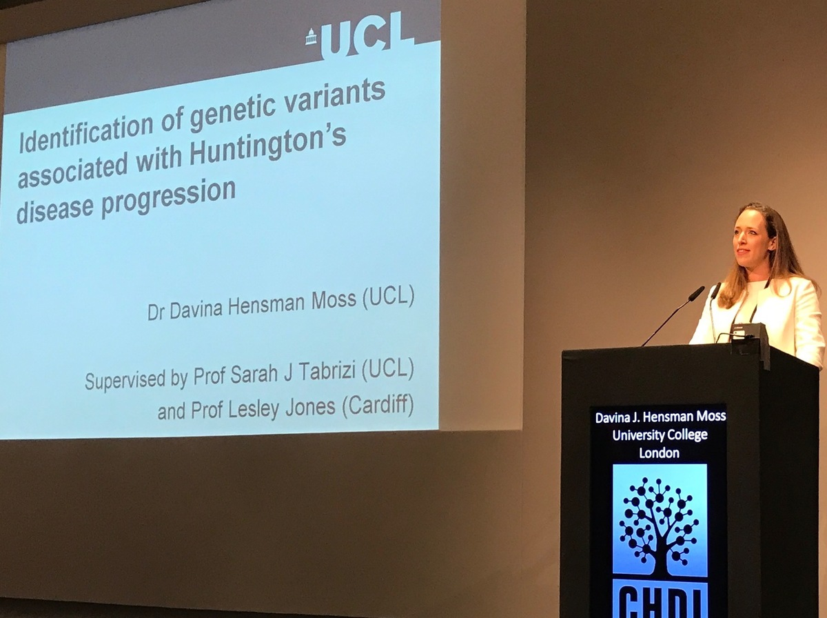 Davina Hensman Moss of UCL has identified genetic differences that make the HD genetic mutation more unstable